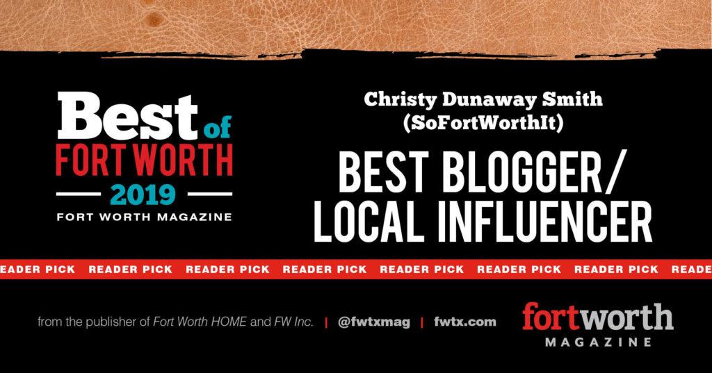 Christy Dunaway Smith Fort Worth Magazine Best Local Blogger/Influencer