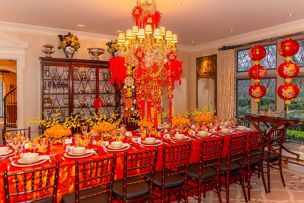 lunar new year tablescape