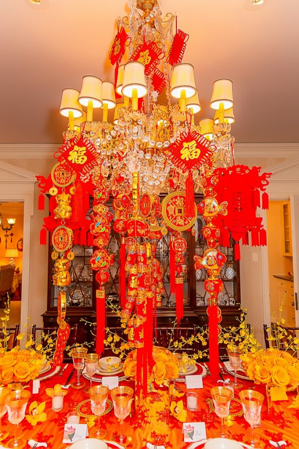lunar new year chandelier