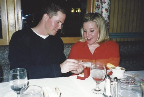 Marriage proposal at Golden Eagle Inn Restaurant in Beaver Creek, Colorado